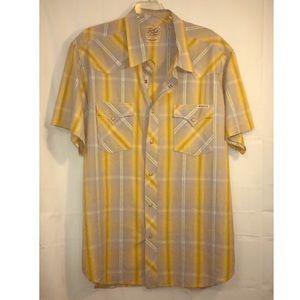 Lucky Brand Mens Western Short Sleeve Shirt XXL